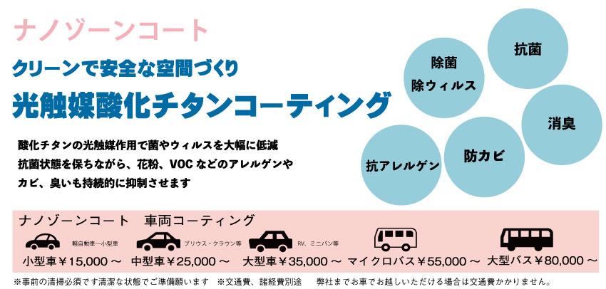 ナノゾーンコート車両コーティング価格
